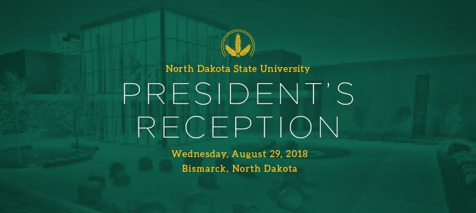 NDSU President's Recepction in Bismarck Aug 29, 2018 Web Banner