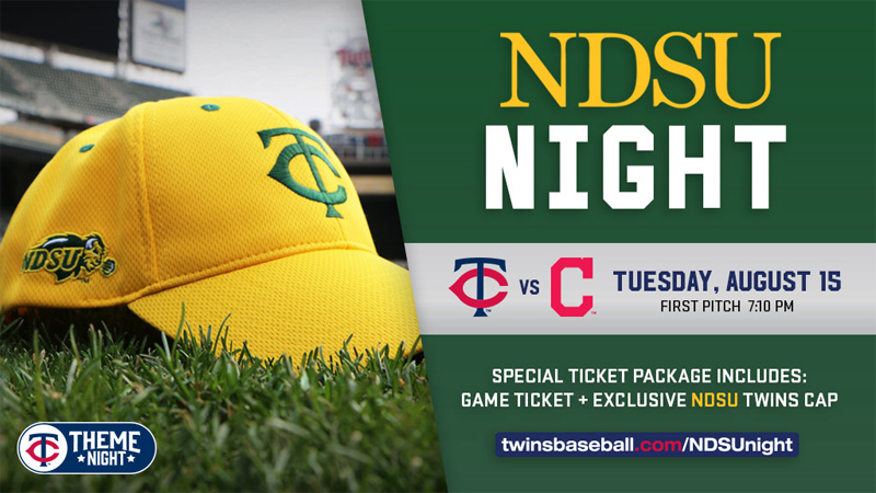 NDSU Night - Twins baseball game Aug 15, 2017 in Minneapolis