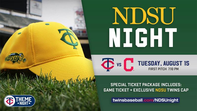 NDSU Night - Twins baseball game Aug 15, 2017 in Minneapolis