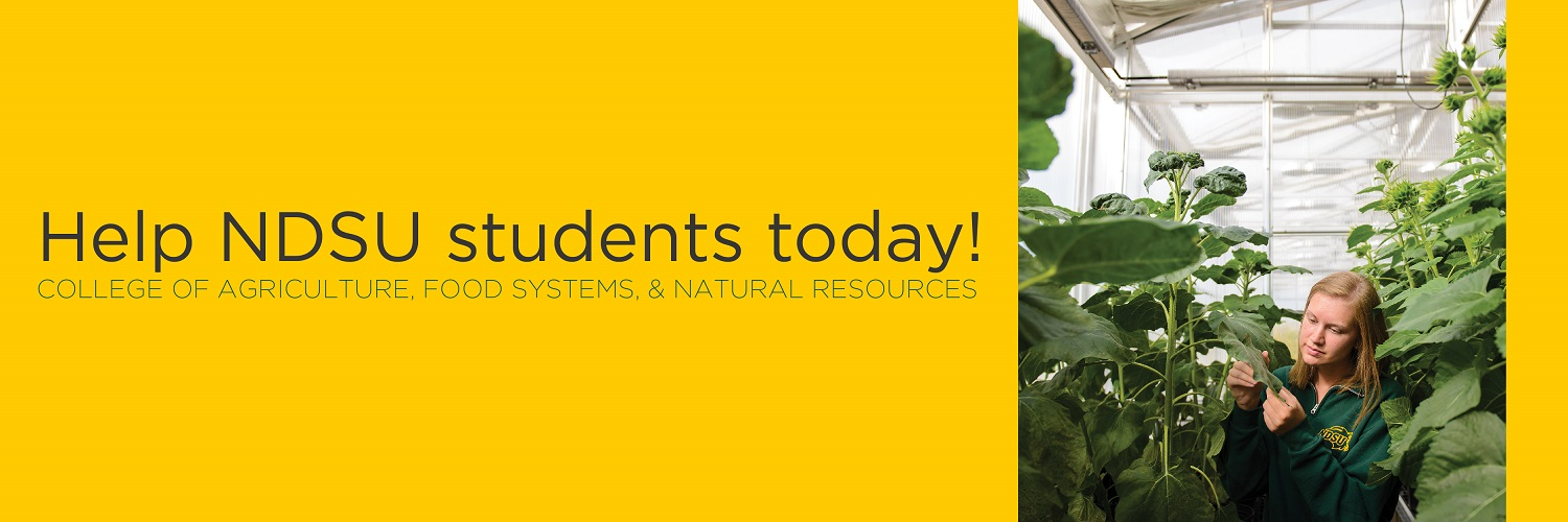 Help NDSU students today! | College of Agriculture, Food Systems, and Natural Resources
