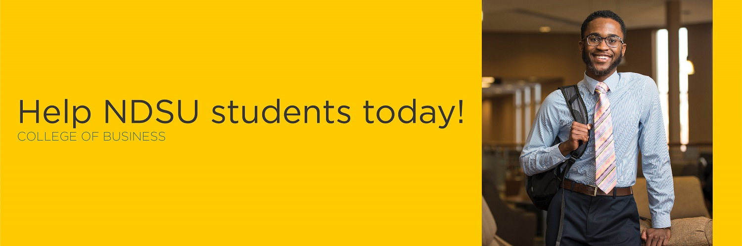 Help NDSU students today! | College of Business