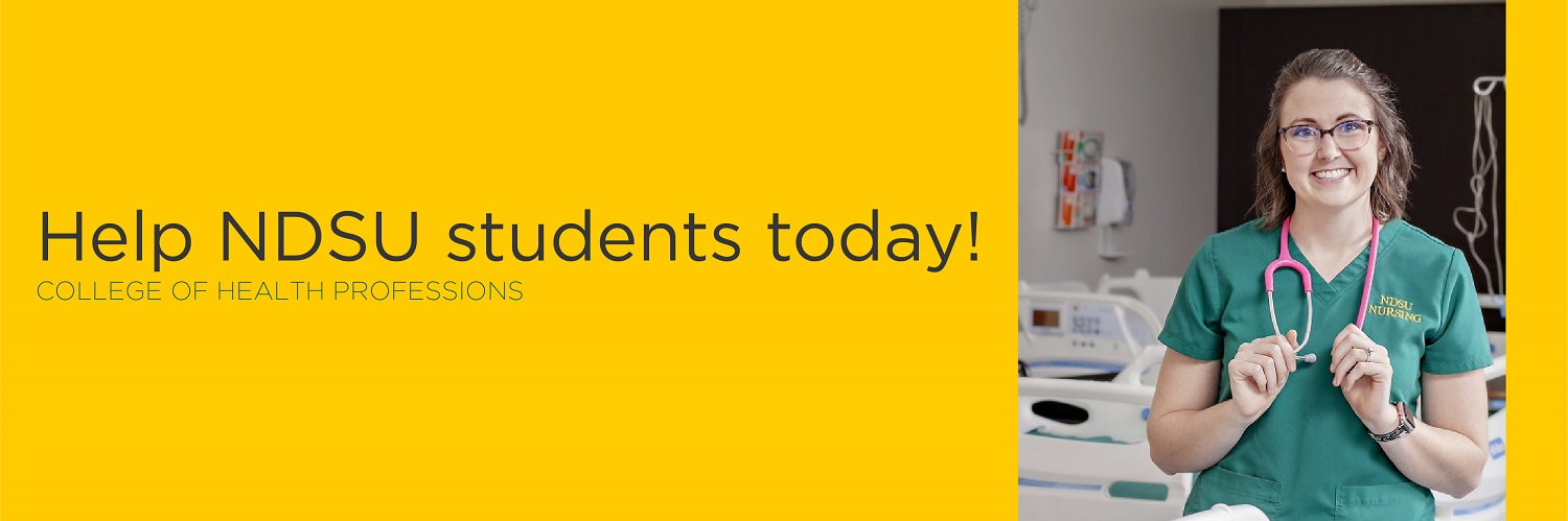 Help NDSU students today! | College of Health Professions