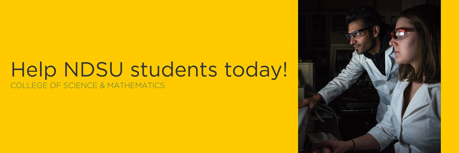 Help NDSU students today! | College of Science and Mathematics