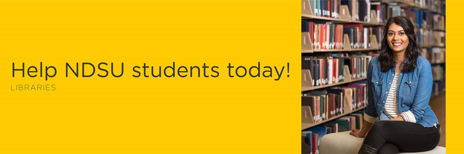 Help NDSU students today! | Libraries