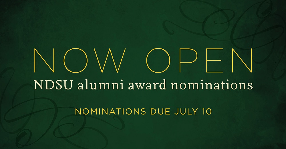 Now Open | NDSU alumni award nominations | Nominations Due July 10