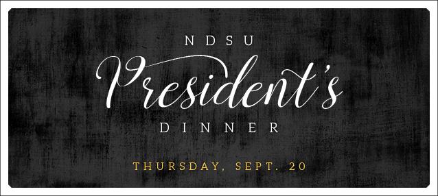 2018 NDSU President's Dinner Sept 20