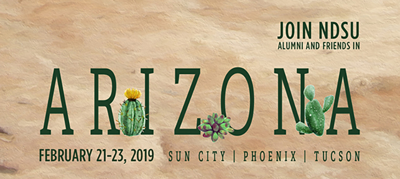 Join NDSU Alumni and Friends in Arizona on February 21-23, 2019 in Sun City, Phoenix and Tucson