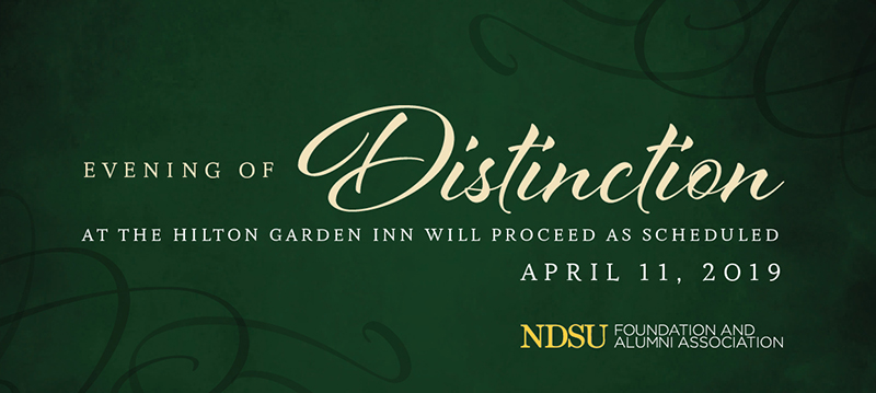 2019 Evening of Distinction at the Hilton Garden Inn will Proceed as scheduled on April 11, 2019