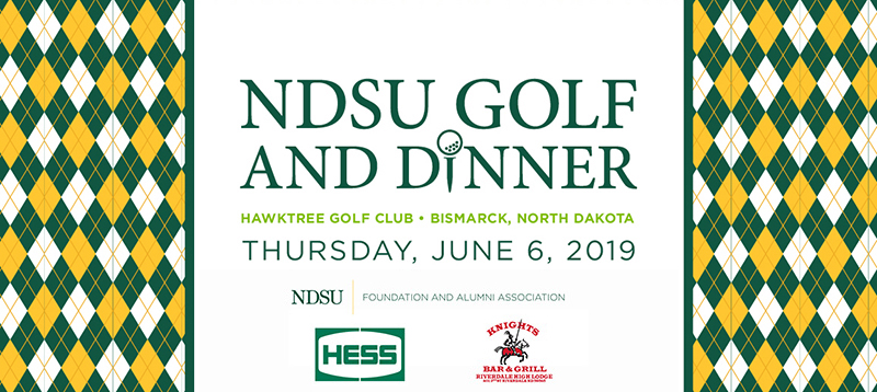 NDSU Golf and Dinner on June 6, 2019 in Bismarck, ND at the Hawktree Golf Club with Sponsors