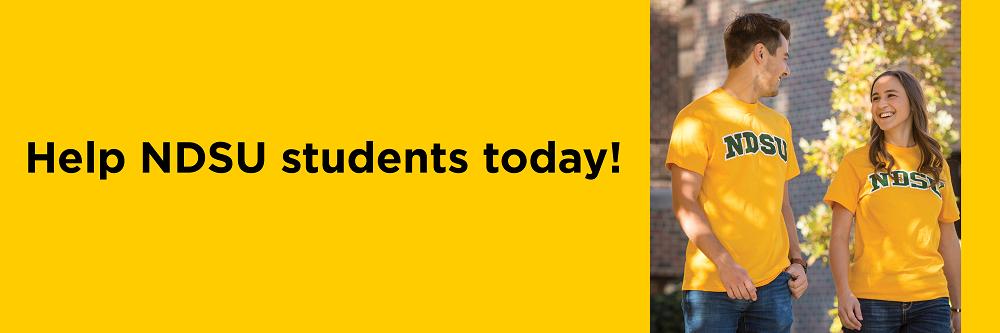 Help NDSU students today!