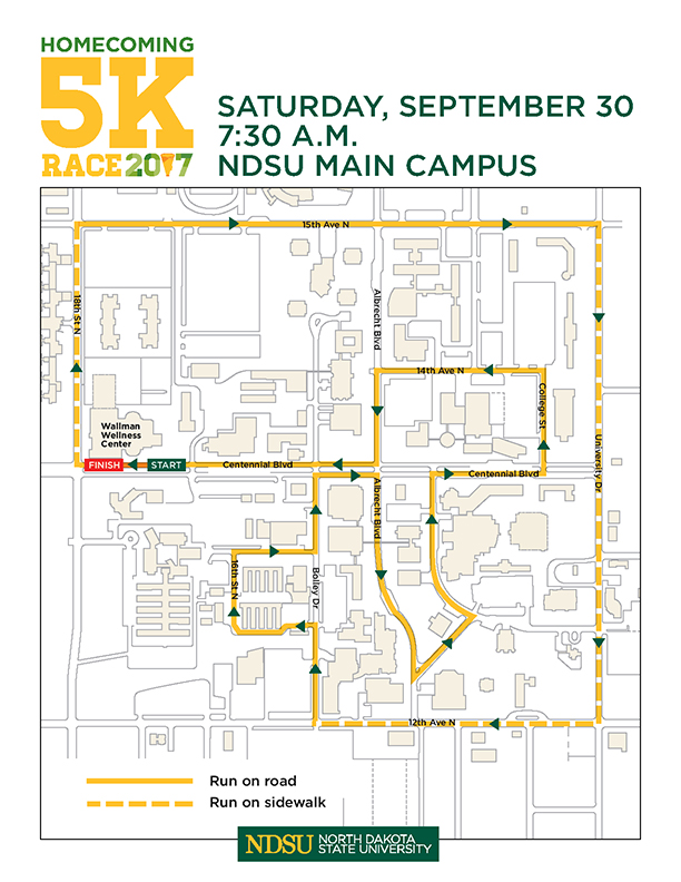 2017 5K Homecoming Race Map