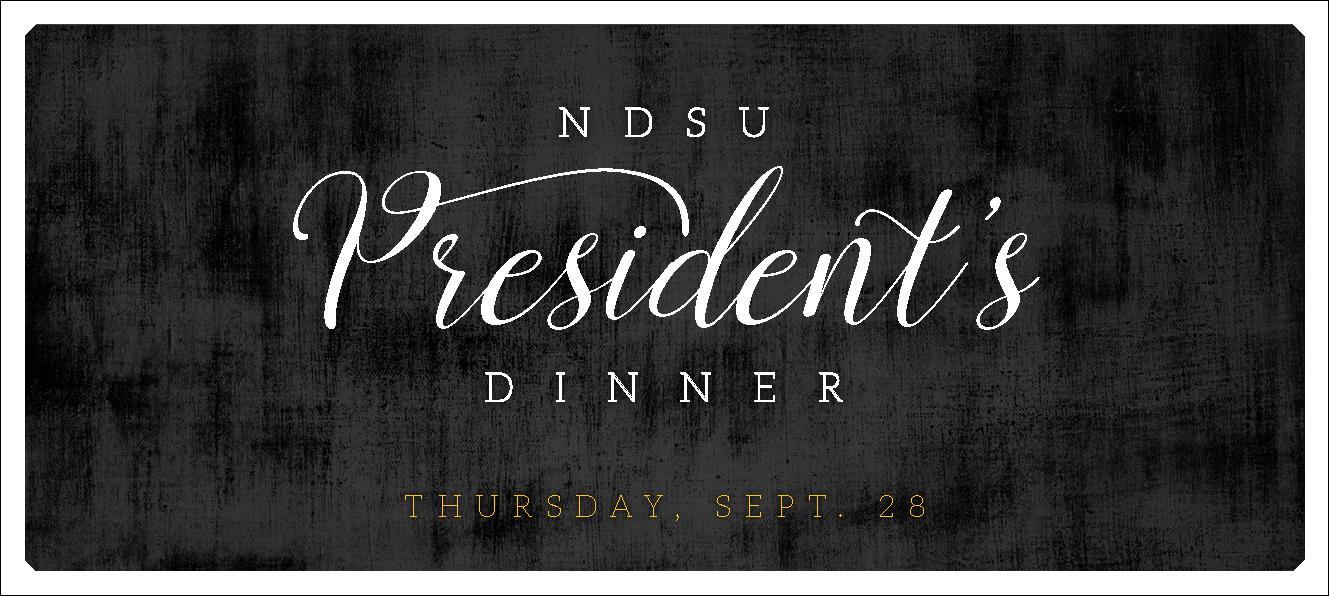 NDSU President's Dinner Sept 28, 2017 Web Banner