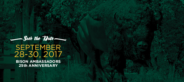 Bison Ambassadors 25th Anniversary Sept 28-30, 2017 Web Banner